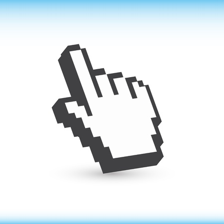 www at sign: Computer hand cursor