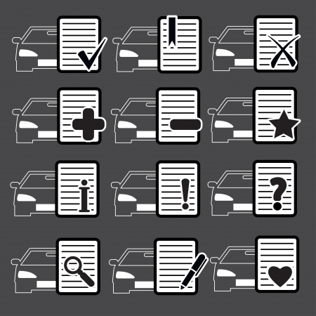 importantly: Car Web icons set 4  Vector Illustration  Illustration