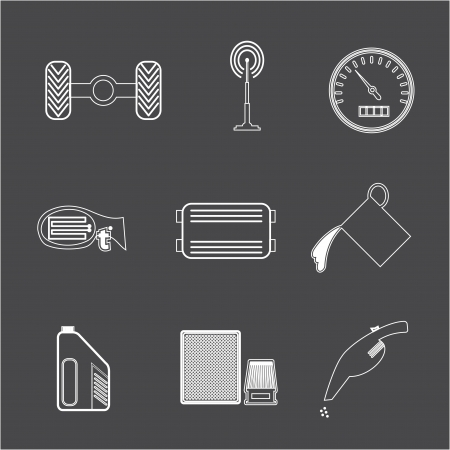 Car icon parts and accessories  Vector Illustration  Vector