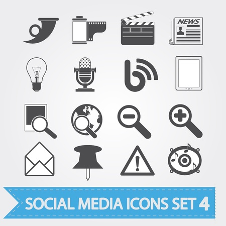 Social media related vector icons for your design or application  Stock Vector - 15400717