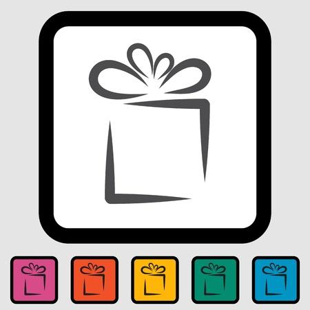 Holiday Gift Box Icon Standard-Bild - 15421170