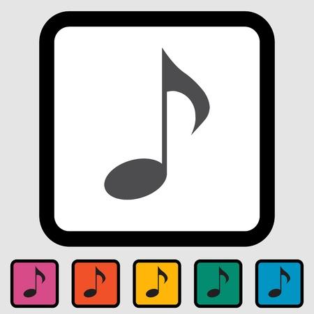 Music note symbols  illustration  Иллюстрация