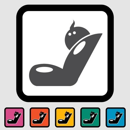 Child car seat icon  illustration