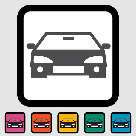 Car icon, black silhouette. illustration  Stock Vector - 15449179