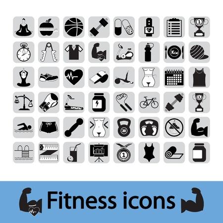 Professiona Fitnessl Icons für Ihre Website Standard-Bild - 15831599