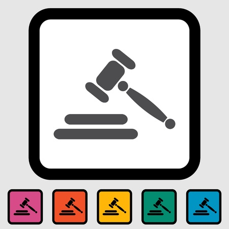 Auction gavel icon  Vector illustration Stock Vector - 16067939