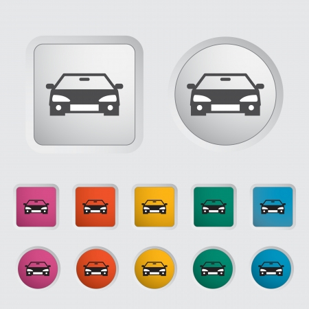 eps icon: Car icon, black silhouette  Vector illustration EPS 8  Illustration