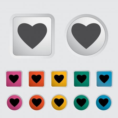 Heart icon, black silhouette  Vector illustration EPS 8 Stock Vector - 16422712