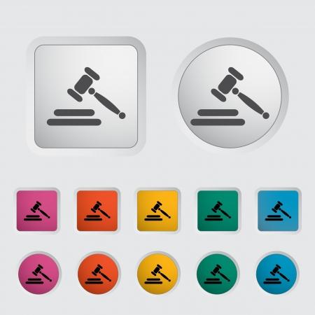 veiling: Veiling hamer pictogram Vector illustratie Stock Illustratie
