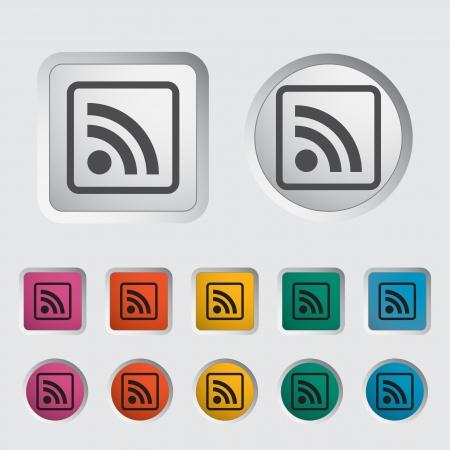 markup: Rss icon  Vector illustration