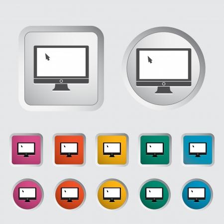 Monitor icon illustration  Stock Vector - 16687982