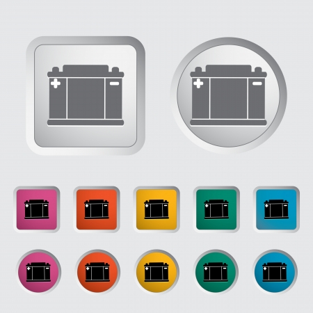 Battery icon   illustration   Stock Vector - 16748639