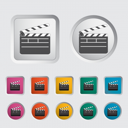 Director clapperboard icon Vector illustration