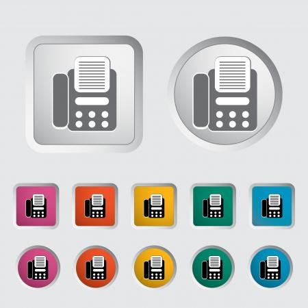 icono fax: Fax icono ilustraci�n vectorial