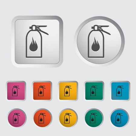 Fire extinguisher icon  Vector illustration Stock Vector - 16786950