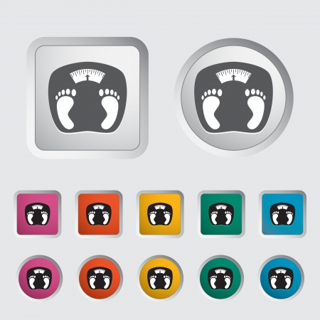 kilograms: Icon weights  Vector illustration