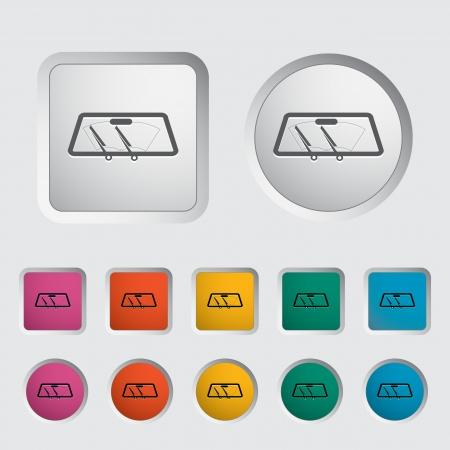 ruitenwisser: Wiper auto enkel pictogram Vector illustratie Stock Illustratie