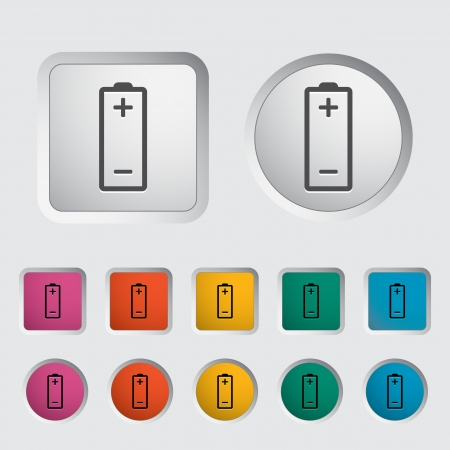 Battery icon  Vector illustration Stock Vector - 16786370