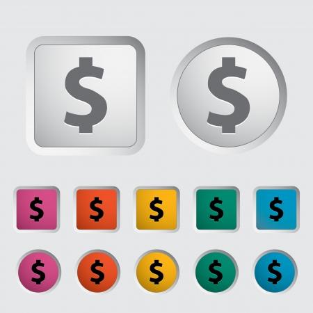 Dollar sing  Vector illustration Stock Vector - 16785520