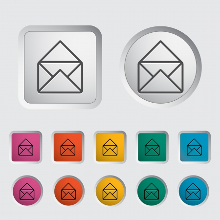 Envelope icon  Vector illustration Stock Vector - 16786829