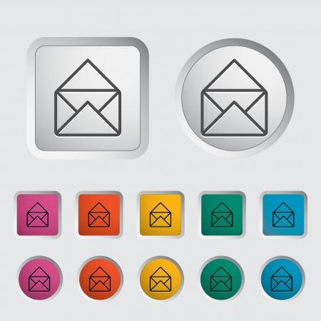 Envelope icon  Vector illustration Stock Vector - 16786829
