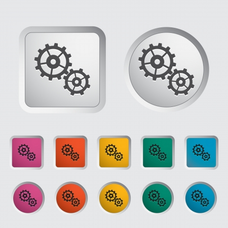Gear icon  Vector illustration EPS Stock Vector - 16786953