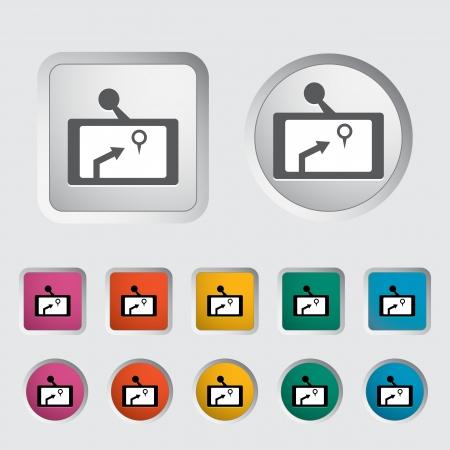 GPS navigator icon  Vector illustration Stock Vector - 16786971