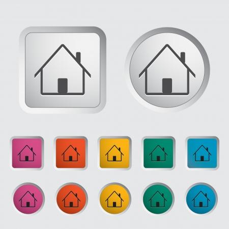 Home single icon. Vector illustration. Stock Vector - 16784171