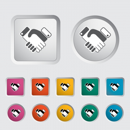 Icon agreement. Vector illustration Stock Vector - 16786036