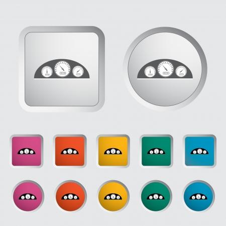 rpm: Icon dashboard. Vector illustration