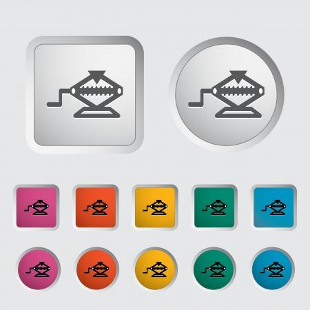 screw jack: Icon jack. Vector illustration  Illustration