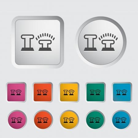 Icon lock car doors. Vector illustration Stock Vector - 16787012