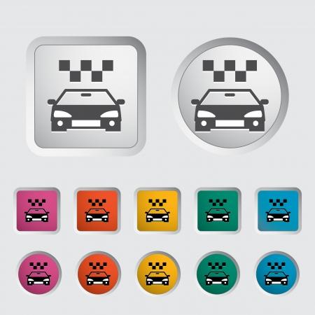 Icon taxi. Vector illustration  Stock Vector - 16786961