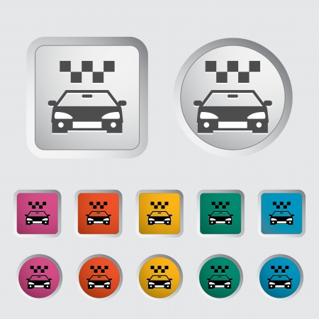 Icon taxi. Vector illustration Stock Vector - 16786961