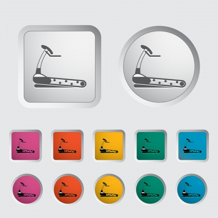 Icon trainer treadmill. Vector illustration. Vector