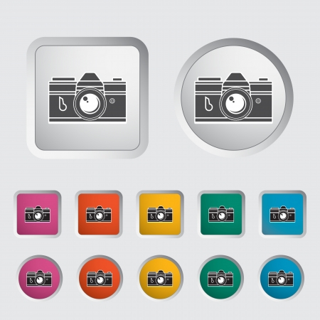Icon vintage camera. Vector illustration. Stock Vector - 16784243