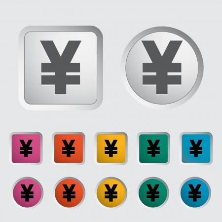 Yen icon. Vector illustration Stock Vector - 16785522