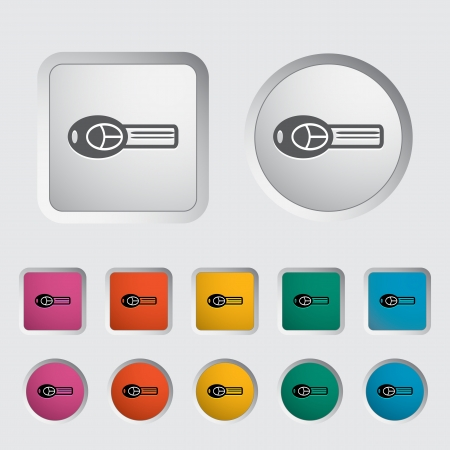 Ignition key single icon. Vector