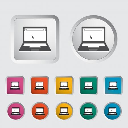 Laptop icon. Vector illustration Stock Vector - 16786682