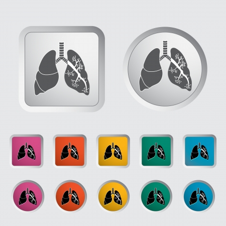respire: Lungs in Black and White. Vector illustration.