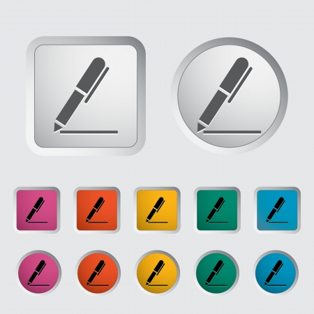 Notes single icon. Vector illustration. Stock Vector - 16786463