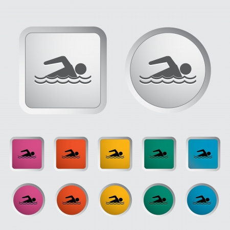 Pool icon. Vector illustration. Stock Vector - 16786827