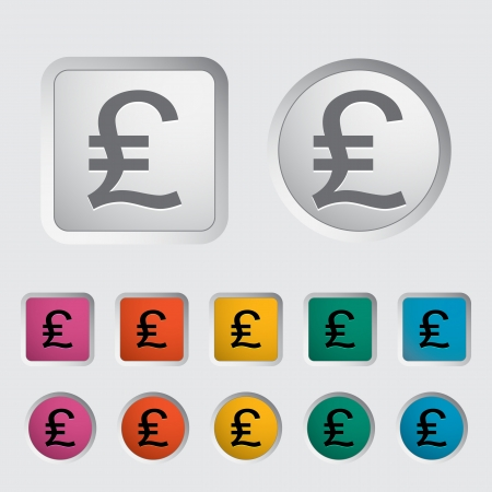 british money: Pound sterling icon. Vector illustration.