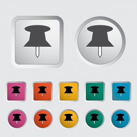 push pin icon: Push pin icon. Vector illustration.