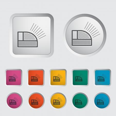 Icon rear signal light car. Vector illustration. Vector