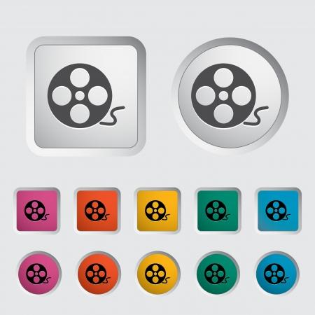 Icon reel of film. Movie Concept. Stock Vector - 16786825