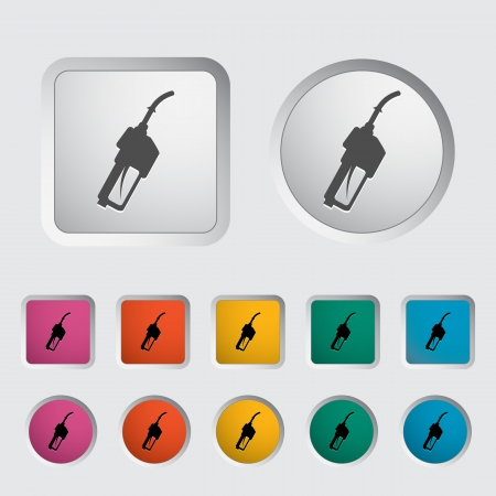 octane: Refueling nozzle icon. Vector illustration.