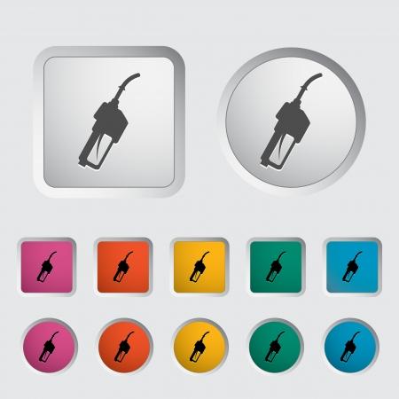 refueling: Refueling nozzle icon. Vector illustration.