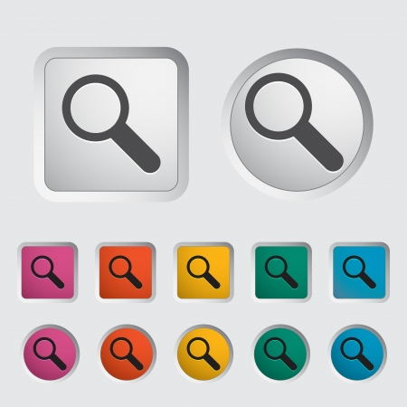 Search single icon. Vector illustration. Stock Vector - 16786715