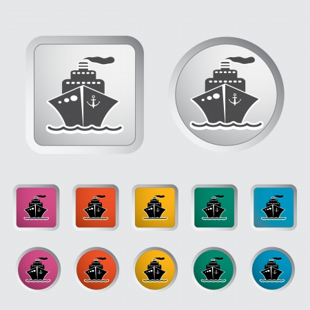 Ship icon. Vector illustration Vector